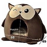 """nanook """"Sweety"""" – Hundehöhle Katzenhöhle – mit großem Kissen, wasserabweisend, rutschfest, Größe M (42 x 42 x 36 cm) – Motiv: Eule - 6"""