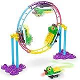 Sunyjoy Flessibile Auto Pista Macchinine Giocattolo Pista Cars Elettriche, Loop Cerchio Tondo Corsia Car Track, Colorato Traccia Auto da Corsa, Luminosa Veicoli Piste Giocattolo per Bambini 3+ Anni