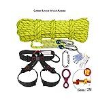 WYX Kletterseil Outdoor Survival Kit Mehrzweck Notfall Ausrüstung Erste Hilfe Survival Gear Tool Kits Set Für Reisen Wandern Camping Sicherheit Seil Kletterseil Outdoor