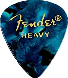 Fender 351 Classic Celluloid Picks 12-Pack (Ocean Turq) Heavy- Lot de 12 médiators