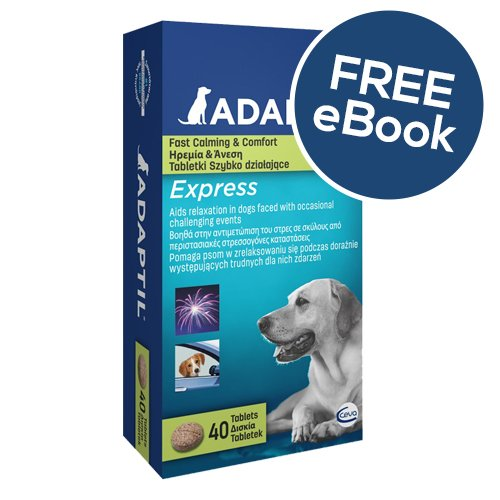 ADAPTIL Express Tablets 40 Pack – INCLUDES EXCLUSIVE PETWELL® / ADAPTIL® E BOOK