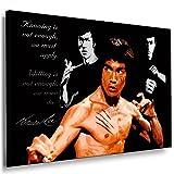 Boikal / Leinwand Bild Bruce Lee Kampfsportart Jeet Kune Do Leinwanddruck, Kunstdruck fm01 Wandbild 70 x 50 cm