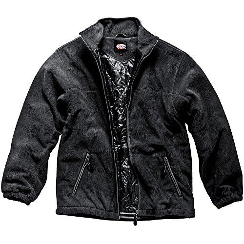 Dickies Wattierte Fleecjacke schwarz BK M, JW81700 Dickies Fleece Pullover