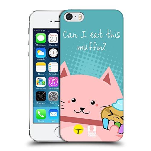 Head Case Designs Coque pour Apple iPhone 4 et 4S Motif chat Inscription What Other Cat? Manger Un Muffin
