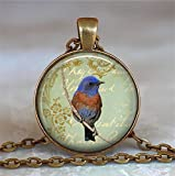 Bluebird Collage Anhänger. Bluebird Halskette Bird Lover Geschenk Bluebird Schmuck Bluebird Jewelry