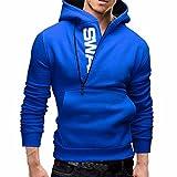 Ai.Moichien Männer Slim Hoodie Warm Kapuzen Sweatshirt Mantel Jacke Outwear Pullover