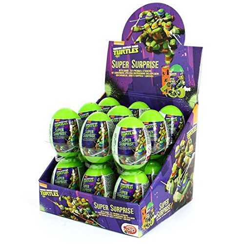 Image of What Next Candy Teenage Mutant Ninja Turtle Super Surprise Egg (Pack of 18)