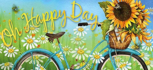 jiaxingdalin Evergreen Happy Day Sunflowers Decorative Mat Insert