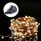 ALED LIGHT® Fairy Lights, 15M 150LED Copper Wire Waterproof LED String Lights Indoor Starry Lights Lighting DIY Decoration for Bedroom Jars Garden Camping Wedding Christmas Party - Warm White