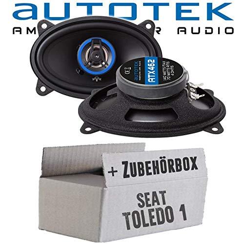 Lautsprecher Boxen Autotek ATX-462 | 2-Wege oval 10x15cm Koax Lautsprecher 4'x6' Auto Einbauzubehör - Einbauset für Seat Toledo 1 Heck - JUST SOUND best choice for caraudio - Audio-4x6