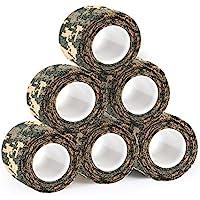 ZYQHY 5 cm × 5 m (5 Paquetes) Vendajes autoadhesivos de Alta flexibilidad Cinta elástica de Gasa Adhesiva de Primeros Auxilios de Salud médica para Deportes, Camouflage4, 5cm*5m