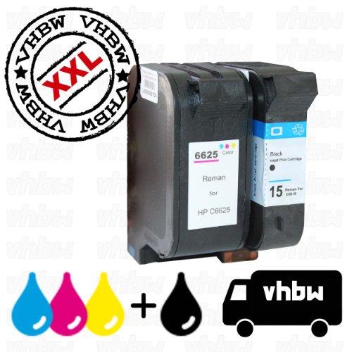 Vhbw set 2x cartucce sostitutive e compatibili con stampante hp deskjet 810c, 816c, 817c, 825c, 825cvr, 840c, 841c, 842c, 843c, 845c, 845cvr