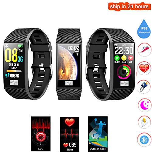 Hakr Fitness Tracker, EKG-Farbbildschirm-Aktivitäts-Tracker Mit Herzfrequenzüberwachung EKG-Blutdruck IP68 wasserdichte Schlafüberwachungsfunktion - Sensor Basketball Smart Der