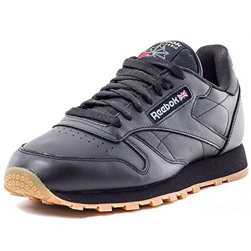 Reebok Classic Leather, Chaussures de Running Entrainement homme Schwarz