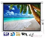 Elcor Motorized Projector screen 106 Inch-Diagonal,52'Height x 92'width In 16:09 Aspect Ratio, Support with HD,3D & 4K Technology.