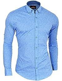 Cipo & Baxx Men's Casual Dress Shirt Paisley Pattern Button Down Cotton Slim Fit