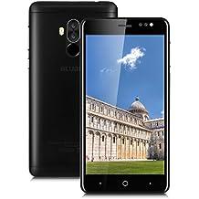 "Bluboo D1 - 3G Smartphone Libre (Android 7.0, 5.0"" HD Pantalla, Resolución 1280*720, MTK6580A Quad Core 1.5GHz,2Gb Ram 16GB ROM, Dual Sim, Cámara Dual 8MP + 5MP, 2600mAh Batería) (Negro)"