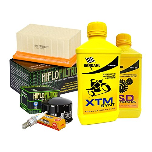 Tagliando Bardahl XTM 15W50 filtro olio aria candele cambio 75W90 R 1200 GS