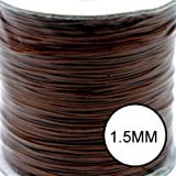 1,5mm ciré style Peau de serpent Cordon Coton Chocolat noir C0625/5MTRS