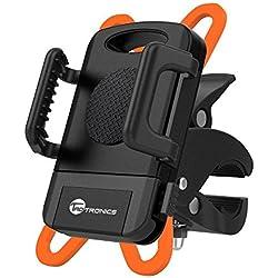 Supporto Bici Smartphone TaoTronics Porta Telefono Bici, GPS e altri Dispositivi Elettronici per Bicicletta Ciclismo (Pulsante di Rilascio, Rotabile a 360 gradi, Cinturino in Gomma)