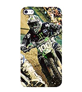 Fiobs Designer Back Case Cover for Apple iPhone 4S (Bike Motorcycle Cool Vehicle Swag Boy )