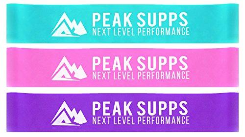 Widerstand Loop Bands | Set von 3–Blau, Rosa und Violett | Glute Training | Yoga | Pilates |...