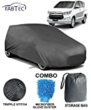 Fabtec Heavy Duty Car Body Cover for Toyota Innova Crysta with Microfiber Glove & Storage Bag Combo!