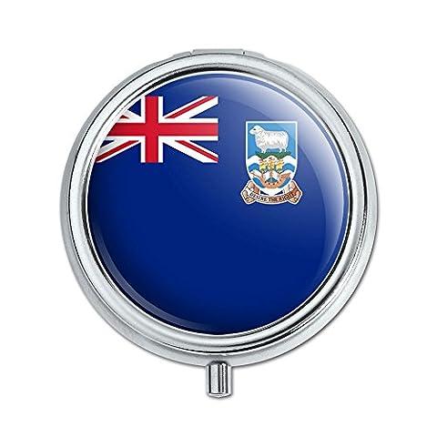 Les Îles Falkland National Pays Drapeau pilule cas boîte à bijoux