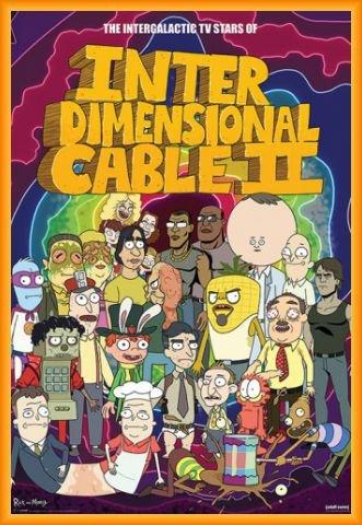 Rick Y Morty Póster con Marco (Plástico) - Personajes, Cable Interdimensional II (91 x 61cm)