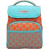 MIER Pequeño Cool Bag aislado almuerzo Bolsa de tela para niños de las muchachas de hombres y mujeres, Naranja