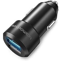 Caricabatterie Auto RAVPower Extra-Mini Alluminio 2 Porte, 24W / 4.8A, Caricatore USB Universale con Tecnologia iSmart…
