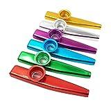 Qualität 6 Sets von 6 Farben Metal Kazoo