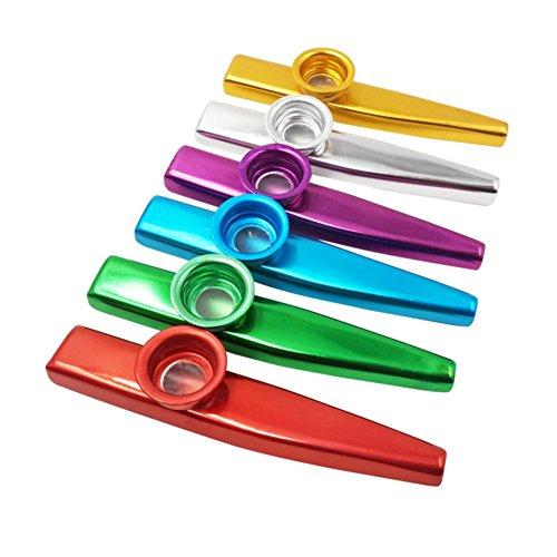 Qualität 6 Sets von 6 Farben Metal Kazoo (ein guter Begleiter für Gitarre, Ukulele, Violine, Piano Keyboard) (6 Farben)