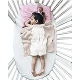Bébé Enfants mignon Couverture Wrap Lange, Oenbopo Toddler bébé enfants Lovely Lapin doux et chaud en tricot Couverture Lit de berceau d'emmaillotage avec couette de couchage pour tout-petits bébé enfants 75cmx98cm