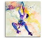 Klettern I 60x60cm Wandbild SPORTBILD Aquarell Art tolle Farben von Paul Sinus