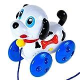 Baoli Bambino Crawl Formazione Teach tirare lungo cane cucciolo giocattolo con musica