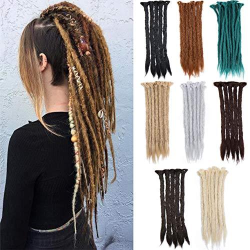 AFUT 20 Zoll Voller Kopf Bunte Synthetische Dreadlock-Haarverlängerung für Frauen und Männer Mode-Stil Cool Reggae Hair Soft lange