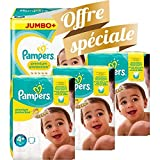 Couches Pampers - Taille 4+ new baby premium protection - 200 couches bébé