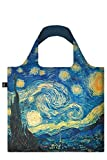 VINCENT VAN GOGH The Starry Night Bag: Gewicht 55 g, Größe 50 x 42 cm, Zip-Etui 11 x 11.5 cm, handle 27 cm, water resistant, made of polyester, OEKO-TEX certified, can carry up to 20 kg