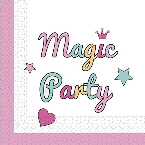 Procos Magic Party Regenbogen Servietten 20 Stück (Magic Party Servietten)