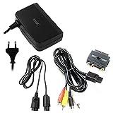 S-Video-Kabel + Scartadapter + Netzteil + Verlängerungskabel für Nintendo 64