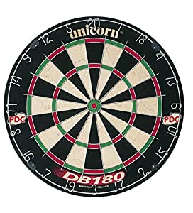 Unicorn Dartboard DB 180 Cible de fléchettes Noir / Blanc / Vert/Rouge -