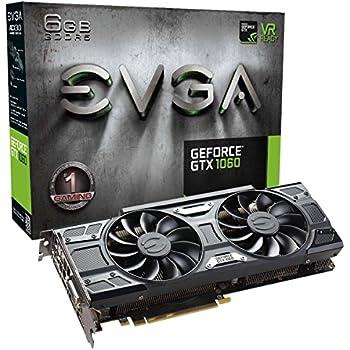 EVGA GeForce GTX 1060 6GB GAMING ACX 3.0, 6GB GDDR5, LED, DX12 Soporte OSD (PXOC) Tarjeta gráfica 06G-P4-6262-KR