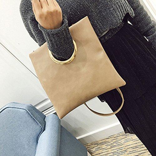 LAHAUTE archaistische Tasche neue einfach Handtaschen mode cluth schultertasche khaki