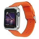 angeland Apple Watch Serie 3/Serie 2/Series 1Band, langlebiges Nylon Sport Armband Watchband mit Edelstahl Schnalle für Apple Watch, 38mm und 42mm, für