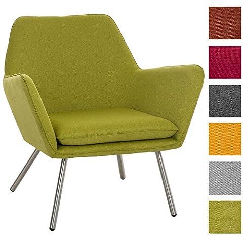 CLP Design Edelstahl Lounge-Sessel CARACAS, Stoffbezug, Polsterstärke 6 cm, Sitzhöhe