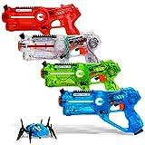 DYNASTY LASER TAG Laser-Tag-Set für Kinder, extreme Packung (4 Blaster)
