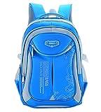 Kinderrucksack Schulrucksack Schultasche Sportrucksack Freizeitrucksack für Mädchen Jungen & Kinder mit der Großen Kapazität (Himmelblau)