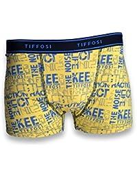 TIFFOSI - Caleçon homme - Boxer - Caleçon homme en coton/élasthanne couleur jaune