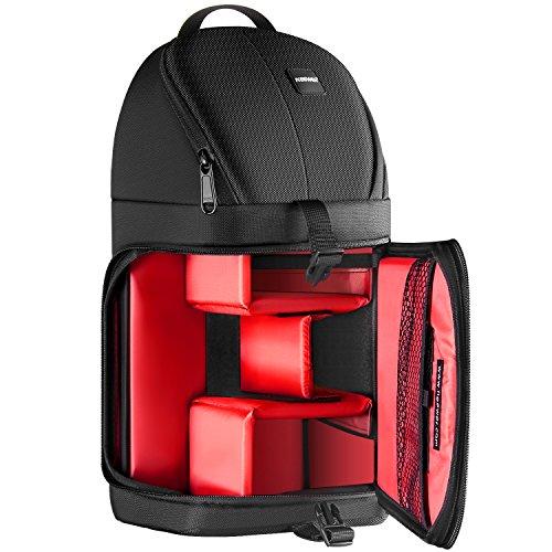 Neewer Professionelle Kamera Lagerung Tasche Wasserdicht, stoßfest reißfest Schutzhülle für Canon Nikon Sony Pentax Olympus Fujifilm Panasonic DSLRs und Mirrorless Kameras (Rote Innenraum) - Speicherkarten Pentax